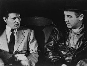 Under Neville Brand's gun in The Mob (1951)