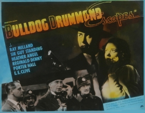 Poster - Bulldog Drummond Escapes_01