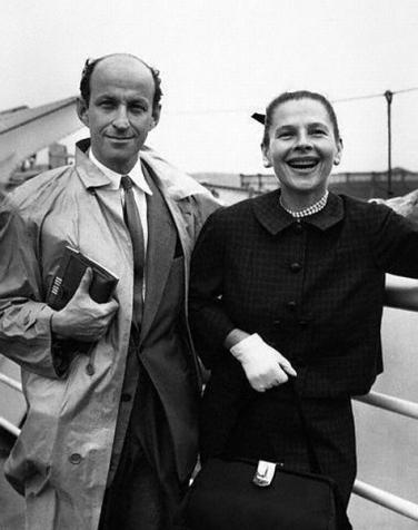 Carson Kanin and wife Ruth Gordon Aboard Ship
