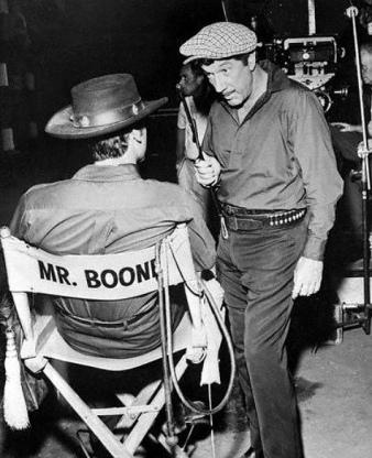Richard Boone Sitting in Movie Chair