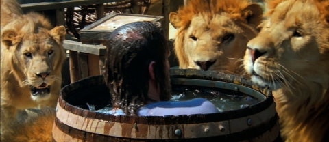 "This photo provided by Drafthouse Films and Olive Films shows a scene from the film, ""Roar,"