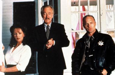 NEEDFUL THINGS, Bonnie Bedelia, Max Von Sydow, Ed Harris, 1993.