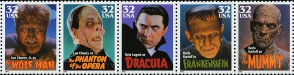 horror stamps