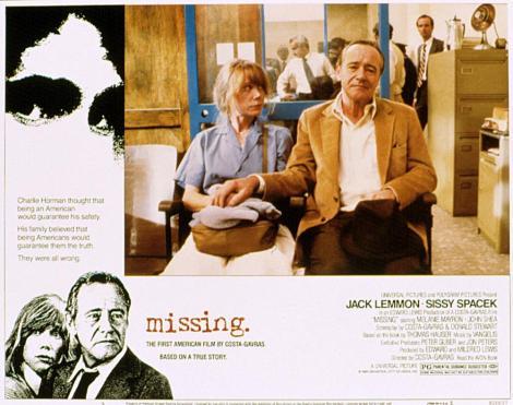 MISSING, Sissy Spacek, Jack Lemmon, 1982, (c) Universal
