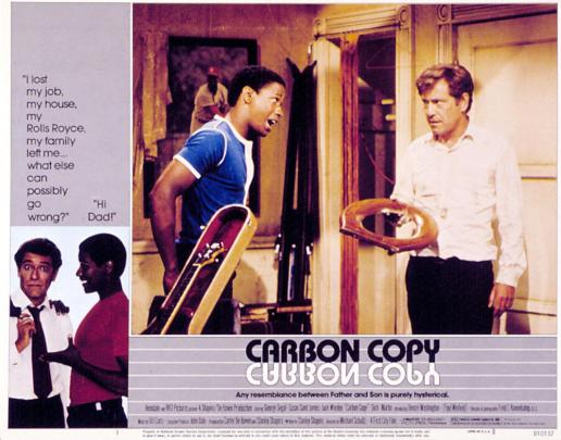 CARBON COPY, Denzel Washington, George Segal, 1981.