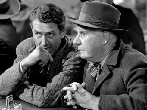 James Stewart and Henry Travers in the 1946 movie 'It's a Wonderful Life.'