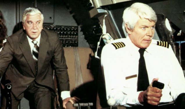 JULIE HAGERTY, LESLIE NIELSEN & PETER GRAVES Film 'AIRPLANE!' (1980) Directed By JIM ABRAHAMS, DAVID ZUCKER 02 July 1980 SS2922 Allstar Collection/PARAMOUNT **WARNING** This photograph can only be reproduced by publications in conjunction with the promotion of the above film. For Editorial Use Only