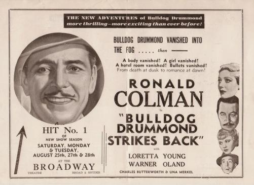 bulldog drummond news add
