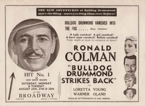 bulldog drummond news add