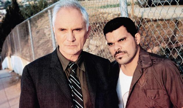 THE LIMEY, from left: Terence Stamp, Luis Guzman, 1999, © Artisan Entertainment