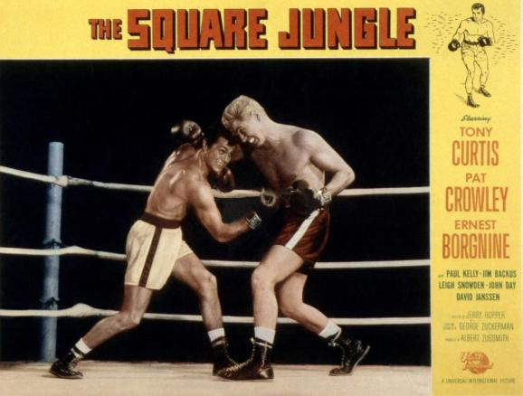 THE SQUARE JUNGLE, Tony Curtis (left), 1955