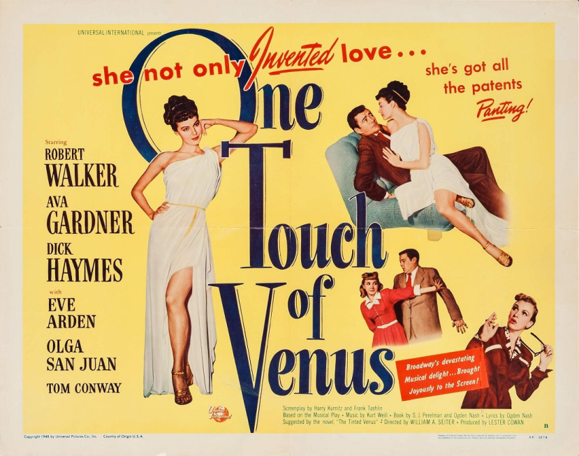 One Touch of Venus (1948) – Mike's Take On the Movies ...